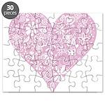 Pink Decorative Heart Puzzle