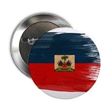 "Haiti Flag 2.25"" Button"