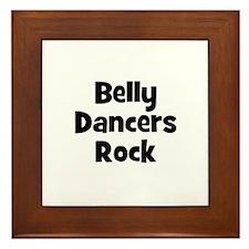 BELLY DANCERS  Rock Framed Tile