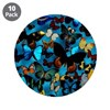 "Butterflies 3.5"" Button (10 pack)"