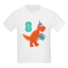 8th Birthday Dinosaur T-Shirt