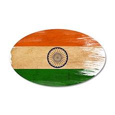India Flag 22x14 Oval Wall Peel