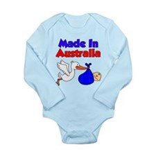 Made In Australia Long Sleeve Infant Bodysuit