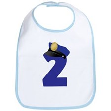 2nd Birthday Police Bib