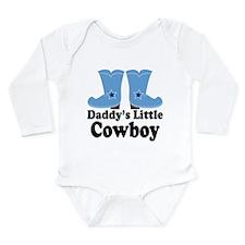 Daddy's Cowboy Gift Long Sleeve Infant Bodysuit