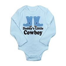 Daddy's Cowboy Gift Long Sleeve Infant Bodysuit