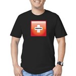 Red Cross Preppers Men's Fitted T-Shirt (dark)