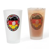 Germany Flag World Football S Drinking Glass
