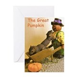 "Squirrels ""The Great Pumpkin"" Card"