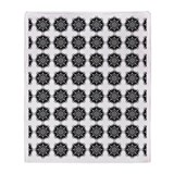 Stylish Black Pattern Throw Blanket