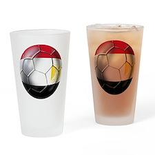 Egyptian Soccer Ball Drinking Glass