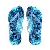Bright Snowflower kaleidoscope Flip Flops