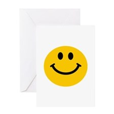 Yellow Smiley Face Greeting Card