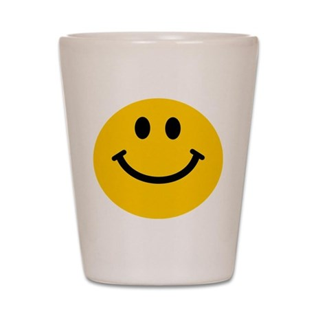 Yellow Smiley Face Shot Glass