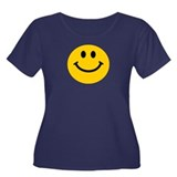 Yellow Smiley Face Women's Plus Size Scoop Neck Da