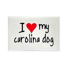 I LOVE MY Carolina Dog Rectangle Magnet