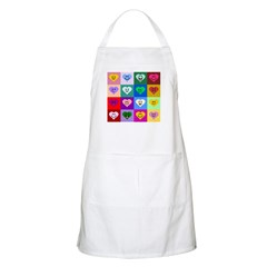 Colorful Smiley Hearts Apron