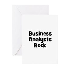 BUSINESS ANALYSTS  Rock Greeting Cards (Package of