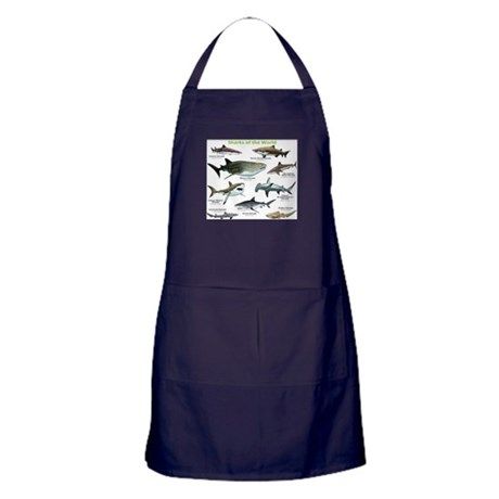 Sharks of the World Apron (dark)