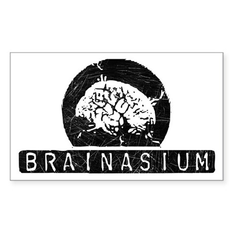 Brainasium Rectangle Sticker
