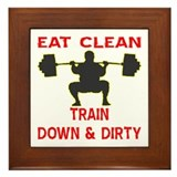 Train Down And Dirty Framed Tile