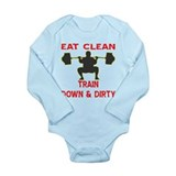 Train Down And Dirty Onesie Romper Suit