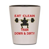 Train Down And Dirty Shot Glass