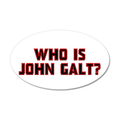 Who is John Galt 22x14 Oval Wall Peel
