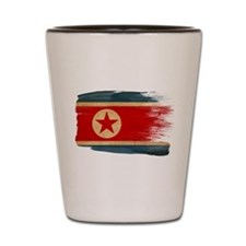 North Korea Flag Shot Glass