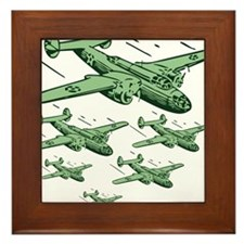 WWII Bomber Squad - USA Framed Tile