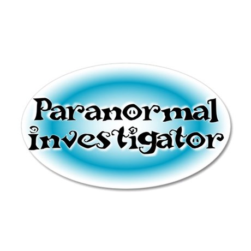 Paranormal Investigator 22x14 Oval Wall Peel