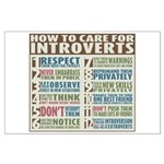 Care for Introverts Large Poster