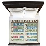 Care for Introverts King Duvet