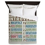 Care for Introverts Queen Duvet