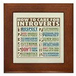 Care for Introverts Framed Tile
