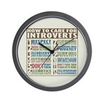 Care for Introverts Wall Clock
