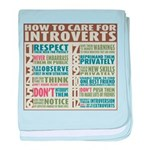 Care for Introverts baby blanket