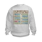 Care for Introverts Kids Sweatshirt