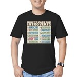 Care for Introverts Men's Fitted T-Shirt (dark)