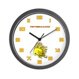 Yellow Fiishii Wall Clock