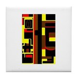 African Mask Tile Coaster