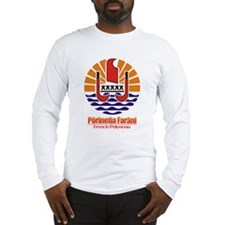 """French Polynesia COA"" Long Sleeve T-Shirt"