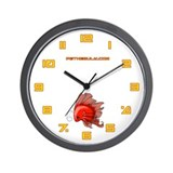 Red Fiishii Wall Clock