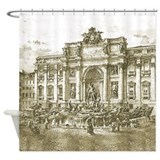 Trevi Fountain Rome Shower Curtain