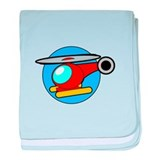 Cartoon Helicopter baby blanket