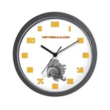 Grey Fiishii Wall Clock