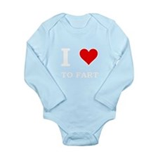 Heart To Fart Long Sleeve Infant Bodysuit