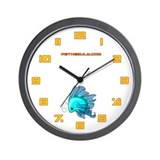 Blue Fiishii Wall Clock
