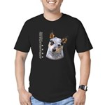 Australian Cattle Dog Men's Fitted T-Shirt (dark)