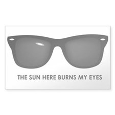 The Sun Here Burns my Eyes Decal